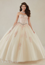 Wholesale Dress Color Aqua - 2018 New Arrvial Sweetheart 16 Ball Gown Aqua Puffy Quinceanera Dresses Cheap Quinceanera Gowns 2017 High Quality