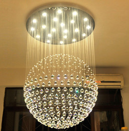 Wholesale Led Crystal 24 Ball - Modern Crystal Chandeliers Hanging Lamps Fixtures GU10 90~260V Led Living Room Dinning Room Crystal Ball Lighting LLFA