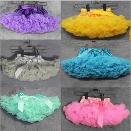 Wholesale Korea Skirt Nylon - Children Pettiskirts Tutu Skirt Korea Style baby girls Partywear skirt Mesh Clothing bowknot tulle Girl's Pleated dresses Free shipping G071