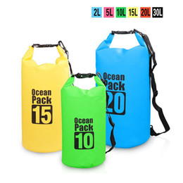 Wholesale Dry Bag For Kayak - Outdoor drift dry bag for kayak Floating Boating Swimming Waterproof Bag PVC Bucket Travel Pouch Beach Storage