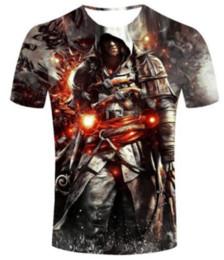assassini creed t shirts Sconti 2017 New Fashion Estate Uomo / Donna Assassins Creed Harajuku Stile Divertente 3d Stampa T-Shirt Casual S-5XL H137