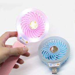 Wholesale Small Fan Lamp - New Beauty LED Night Light with USB Mini Fan Portable Selfie fill in Light with Small Fan for Power Bank Smartphone Pocket usb Lamp fan