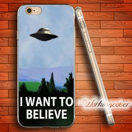Wholesale I Cases - Coque I Want To Believe X-Files Soft Clear TPU Case for iPhone 6 6S 7 Plus 5S SE 5 5C 4S 4 Case Silicone Cover.