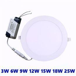 Luz de techo empotrada LED ultra delgada de 3W 6W 9W 12W 15W 18W 18W 25W LED empotrada en el techo AC85-265V desde fabricantes