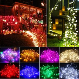 Wholesale Outdoor Fairy Twinkle Lights - New 200 Twinkle LED Christmas Lights 20M LED Xmas String Fairy Wedding Background Outdoor Holiday Party Lights