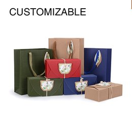 Wholesale Christening Boxes Wholesale - high quality Customizable Packing Boxes, Corrugated cardboard gift box, Packing Boxes For Baby Christening Wedding Birthday, free shipping