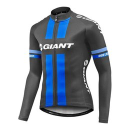 Wholesale Long Bicycle - 2017 GIANT Cycling jersey pro team ropa ciclismo hombre long sleeve bike mtb cycling clothing bicycle maillot bicicleta shirt C3104