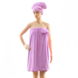 Wholesale Cute Towels For Girls - Sexy Bath Towel Wearable Quick-Dry Solid Cute Bow Skirt for Woman Lady Girl Include Shower Cap Throw Home Beach Outdoor WA1517