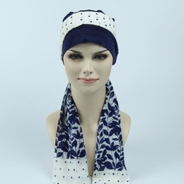 Wholesale Skull Caps For Summer - Cotton jersey Beanie Hats,Chemo bandana scarf, Alopecia Modest headcover Hat for undergoing CHEMO scalp hair lossan