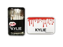 Wholesale Wholesale Makeup Brush Tops - Kylie Makeup Brushes Makeup Bush 11pcs set Kylie Brush Foundation Blush Powder Makeup Tools Top Quality A119