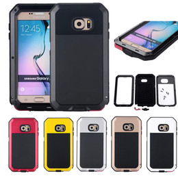 Wholesale New Life Cases - 2017 NEW Arrival Heavy Duty Armor Aluminum Metal Shockproof Life Waterproof Cover Case For Samsung Galaxy S3 4 S5 S6 S6edge S7 Edge Note 5