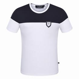 Wholesale Long Shirt Trend Men - 2017 summer new trend hit color style men's T-shirt MEN'S round-neck t-shirt short sleeve t-shirt Free shipping