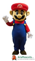 Wholesale Super Mario Characters Costumes - AM0412 Super Mario mascot costume adult suit cartoon character mascot