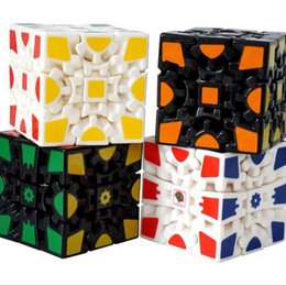 Wholesale Puzzle High Quality - [High-quality gear cube generation of second generation paint black and white] 3D gear third-order magic puzzle toys