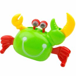 Wholesale Crab Wind Up Toy - Wholesale-Baby Cute Fun Plastic Clockwork Crab Toy Spring Wind Up Gag Toys Children Kids Gift 1PCS Hot Selling