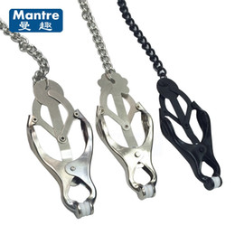 Wholesale Japan Adults Sex Toys - Fetish Japan Style Clover Metal Nipple Clamps , Breast Massager Nipple Labia Clip Flirting Sex Toys For Couples Adult Games