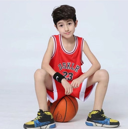 Wholesale Summer Sport Suit For Kids - children basket ball uniform 2 pcs sport suit set for kids 4-14 years old height 110-150cm