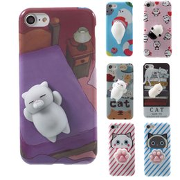Wholesale 3d Cases For Blackberry Cartoon - 2017 Latest Lovely 3D Cartoon Animal Soft TPU Silicone Paste Back Case for Cellphone iPhone Samsung HTC LG