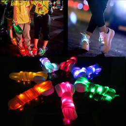 Wholesale Dance Shoes Sport - New arrived Fashion LED Shoelace 9 Colors Outdoor Sports Dance Led Shoes Beautiful Shoelace For Sale 120cm Length Free Shipping