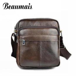 Wholesale Fashion News Men - Wholesale-Beaumais 2016 News Genuine Cowhide Leather Bag Brand Shoulder Handbags Vintage Men Messenger Bags Fashion Messenger Bag DB5478