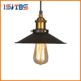 Wholesale Vintage Light Bulb Holder - Vintage Industrial Lighting Copper Lamp Holder Pendant Light American Lampshape Aisle Lights Lamp Edison Bulb 110V-220V