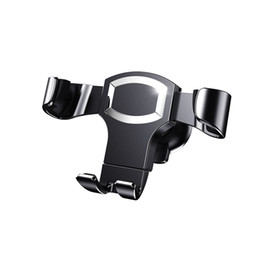 Wholesale Gravity Designs - Car Phone Mount, Gravity Self-locking Design and Anti-skid Base for iOS Android Smartphone,Universal Car Mobile Phone Cradle -Sliver