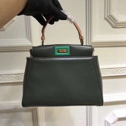 Wholesale Fe Bags - New Fashion Luxury Fe*d* Pee kaboo Women's Genuine Leather Bag Casual Frame Handbags Famous Designer brand Top quality Ladies Small Totes