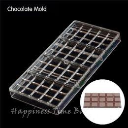 2019 policarbonato de chocolate 4 pcs em forma de quadrado diy chocolate claro policarbonato de plástico molde, partido artesanal de chocolate molde pc, ferramenta de cozimento de chocolate desconto policarbonato de chocolate