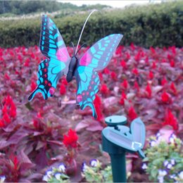 Wholesale Solar Power Mini Pc - Wholesale-1 Pcs Random Color Mini Solar Power Toy Simulation Butterfly Solar Toy for Kids Children Novelty Flying Solar Butterfly Toy