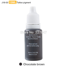 Wholesale Permanent Make Up Pigments - Wholesale- chuse J18 3pcs lot Colorful permanent Makeup ink pigment 15ml for eyebrow make up 19 Colors to Choose-Chocolate brown PMU