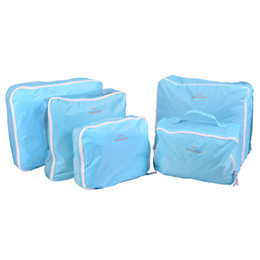 Wholesale Storage Cases For Clothes - New Style Fashion Polyester Nylon 5pcs set Travel Pouch Luggage Packing Bag Organizer Case for Clothing Storage