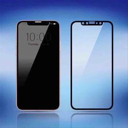 Etiqueta dianteira do vidro do iphone on-line-Para iphone x fibra de carbono filme borda macia protetor de tela de vidro temperado cobertura completa frente protetora adesivos novo