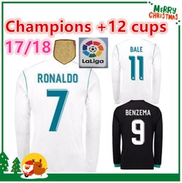 Wholesale Polyester Long Sleeve Shirts - 17 18 Real madrid Long sleeve Soccer Jersey Benzema Ronaldo football Modric Kroos Sergio Ramos Bale Marcelo Madrid 2017 2018 ASENSIO shirt