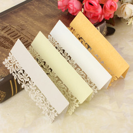 Wholesale Choice Decor - Wholesale-NEW 12Pcs Leaf Wedding Place Name Cards Wedding Personalised Tableware Seating Decor Hollow Out Multicolor Choice
