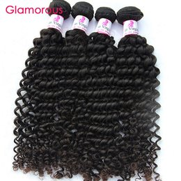 Wholesale virgin russian hair bundles - Glamorous Human Hair Wholesale Brazilian Hair Curly Weave Good Quality 10 Bundles Peruvian Malaysian Indian Virgin Hair Extensions for women