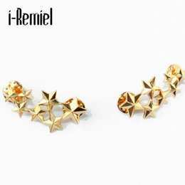 Wholesale Suit Wedding Star - 2017 Star Limited New Arrival Broche Brooches For Hijab Male Brooch Corsage Big Dipper Retro Suit Collar Pin Badge Jewelry