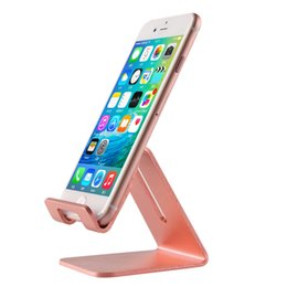 Wholesale Watches Phone Gold - Universal Aluminum Metal Phone Stand Holder For iphone SE 6 6S 7s Plus Samsung S6 S7 Edge S8 Tablet Desk Holder Stand For Smart Watch