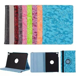 Wholesale Girls Ipad Covers - Ultra Stylish Luxury girl Flower PU leather 360 degree Rotating Cover Stand case For apple ipad air 2 air2 ipad6