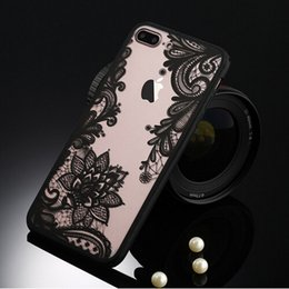 Wholesale Iphone 5s Case Retro - Sexy Retro Floral Phone Case For Apple iPhone 7 6 6s 5 5s SE Plus Lace Flower Hard PC+TPU Case Back Cover