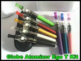 Wholesale Globe Glass Smoke - New Glass Globe Atomizer EGo T battery kit Portable Vaporizer Portable Wax Vape Pen ego e cigarette waxing device smoking starter kit