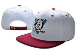 Wholesale White Baseball Caps Cheap - Wholesale retail NHL Mighty Hockey Snapback Hats Anaheim Ducks bone cap Flat Fashion nhl Hats sports Cheap mens & women baseball caps