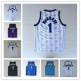 Wholesale Rugby Team Jerseys - 1 Tracy McGrady Jersey Throwback Shirt Rev 30 New Material Tracy McGrady Uniforms Retro Team Road Black Blue White Red Purple Quality