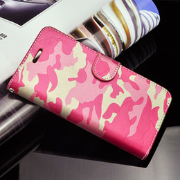 Wholesale Silicone Wallet Men - For iphone7 7plus Hybrid Camo Wallet Case Slim Camouflage Military Pattern leather Case With Kickstand Card Pocket Cool Man Style Cover