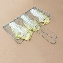 Wholesale Grill Grids - Wholesale- Outdoor bbq tools barbecue fish clip,square grid for cooking in a pan,square bbq grill for cooking as mesh,bbq grid cooking