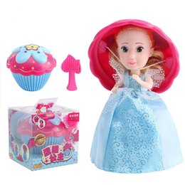 Wholesale Girls Doll Magic - Cupcake Surprise Scented Princess dolls Transform to Mini Princess Doll Barbie 12 Roles with 6 Flavors Magic Toys for Girls C2955
