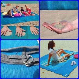 Wholesale Lazy Blanket - New Summer 200X200cm Sand Free Mat Camping Picnic Mattress Beach Mat Blue green pink Lazy Mat Outdoor Picnic Blanket Sandless Mats