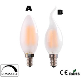 Wholesale E12 Frosted - x30 Dimmable C35 C35T 4W 6W Retro LED Filament Bulb Frosted Candle Bulbs,E12 E14 Base, 110v 220v Warm White,Chandelier Decorative Lighting