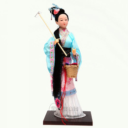 Wholesale Cloth Umbrella Red - Beijing silk foreign gifts business gifts gifts human doll ornaments red 12 Chai Daiyu
