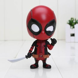 Wholesale Hot Toys Action - Funko Pop Deadpool Figure with SwordCosplay Anime Action Figure Juguetes Model Hot Kids Toys 10cm Free Shipping