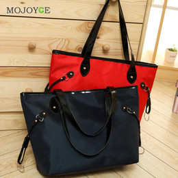 Wholesale Leather Tote Bags Wholesale - Wholesale- Waterproof Nylon and Leather Women Handbag Women Messenger Bags Handbag Famous Brand Large Tote Hobos Ladies Crossbody Bag